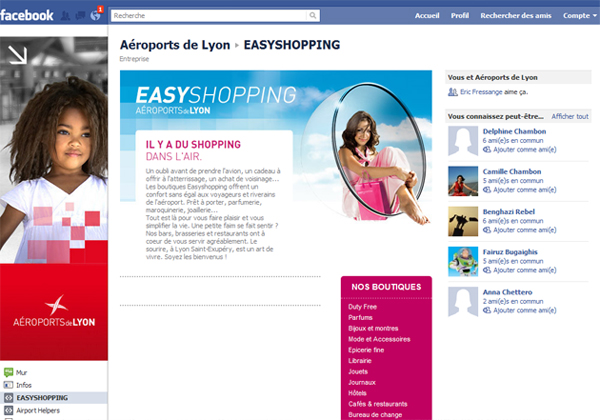 ADL : Easy shopping (facebook)