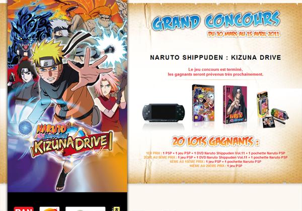 Naruto jeu concours